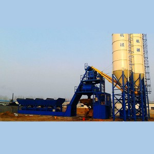 Foundation free concrete mixing plant