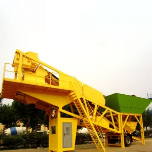 Belt conveyor feeding type mobile concrete mixing plant