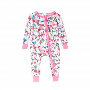 Fashionale Design China Baby Bamboo Zipper Suit Factory