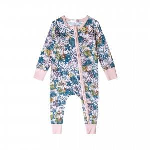 Hot Sale China Custom Baby Bamboo Romper Set Manufacturer