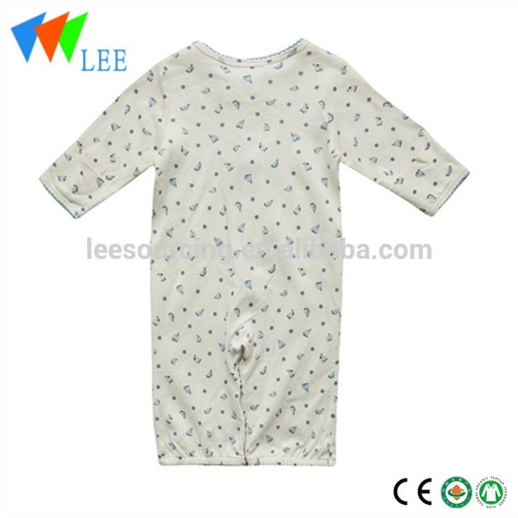 Newborn Infant Baby Soft Cotton Winter Rompers Long Sleeves Printed Chrilren Knitted Romper Of Christmas Baby Clothes