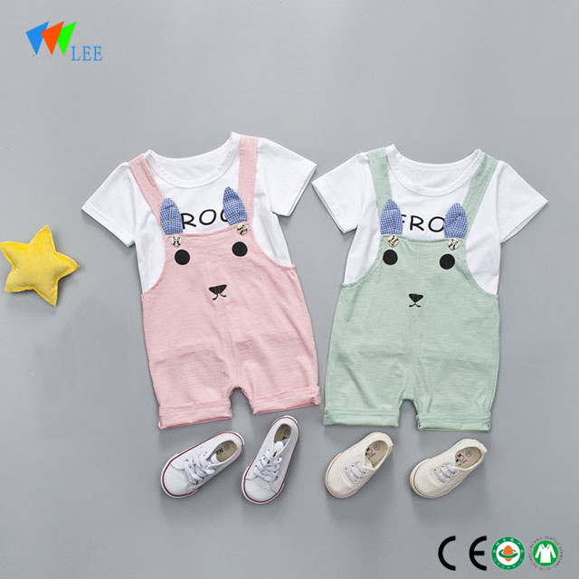 100% cotton wholesale baby girl boutique clothing sets