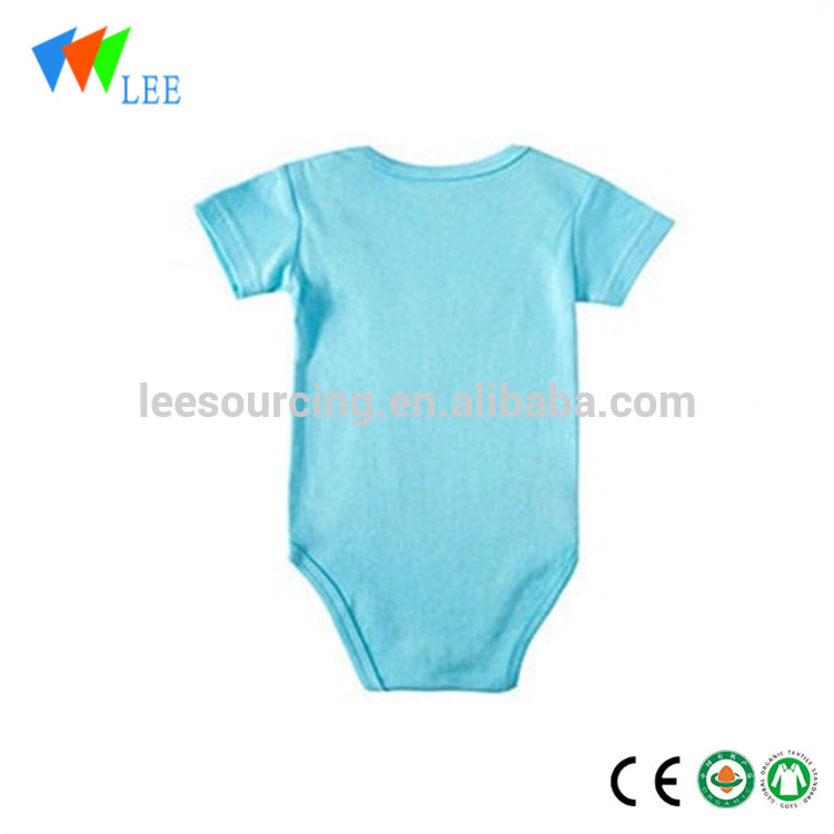 Summer super cool short sleeve newborn one-piece bodysuit printed bamboo baby romper clothes