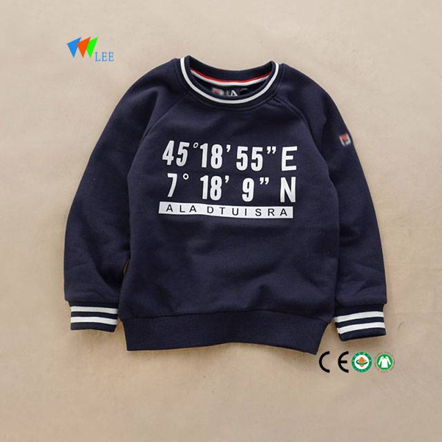 2017 new design wholesale pullover kids sweatshirt clothes