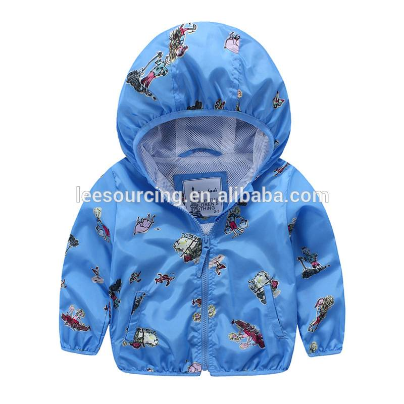 Casual style hoodie printing boys jacket kids clothes children