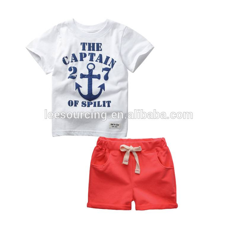 New summer solid cotton baby boy sets clothes children's clothing sets