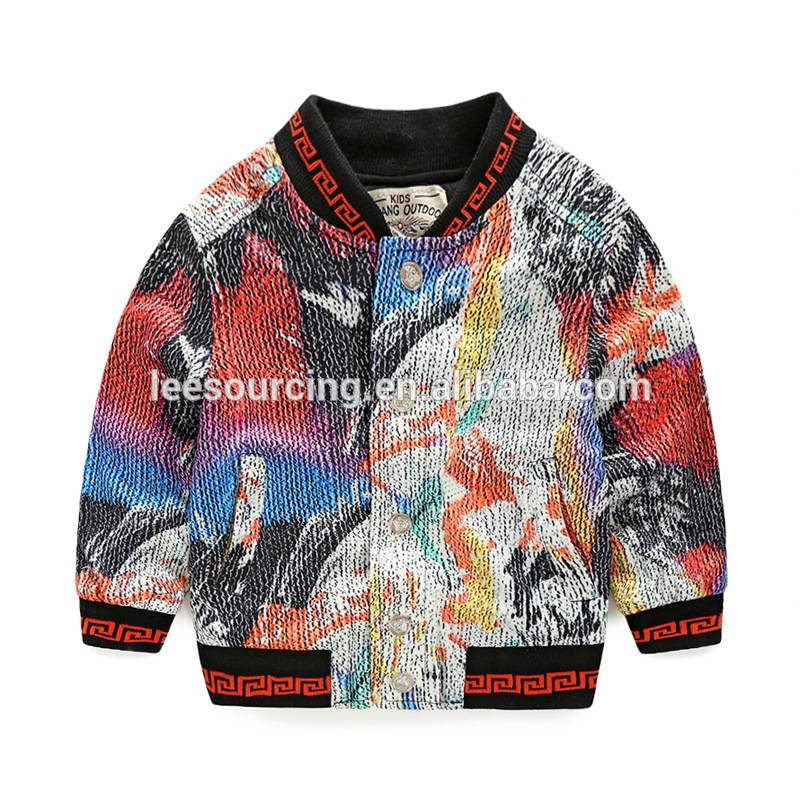 Wholesale new design cool baby coat children wear colorful jacket baby boys cotton clothing tops kids