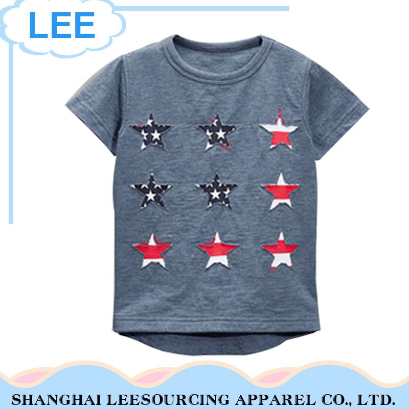 Top Quality Cartoon Baby T Shirt Cotton Boy's Short Sleeve