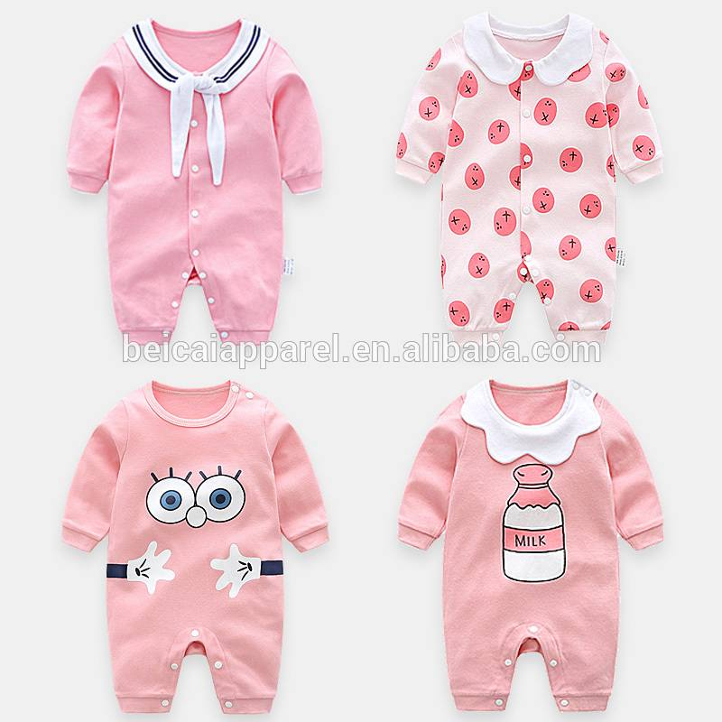 Wholesale gray rompers baby clothes summer ruffle carters onesie baby romper newborn baby bodysuit