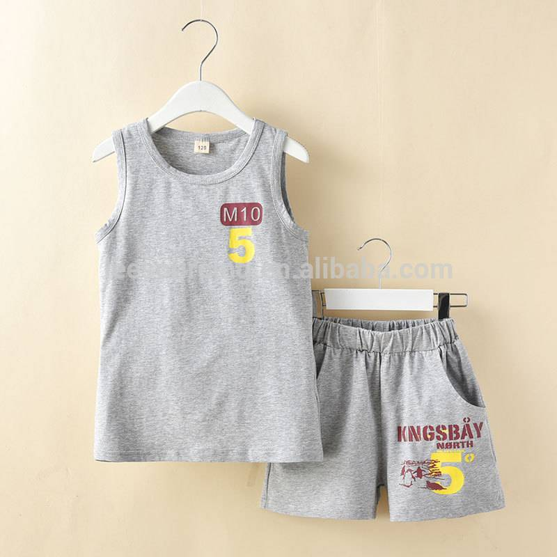 Kids clothes wholesale summer baby clothing top and shorts set