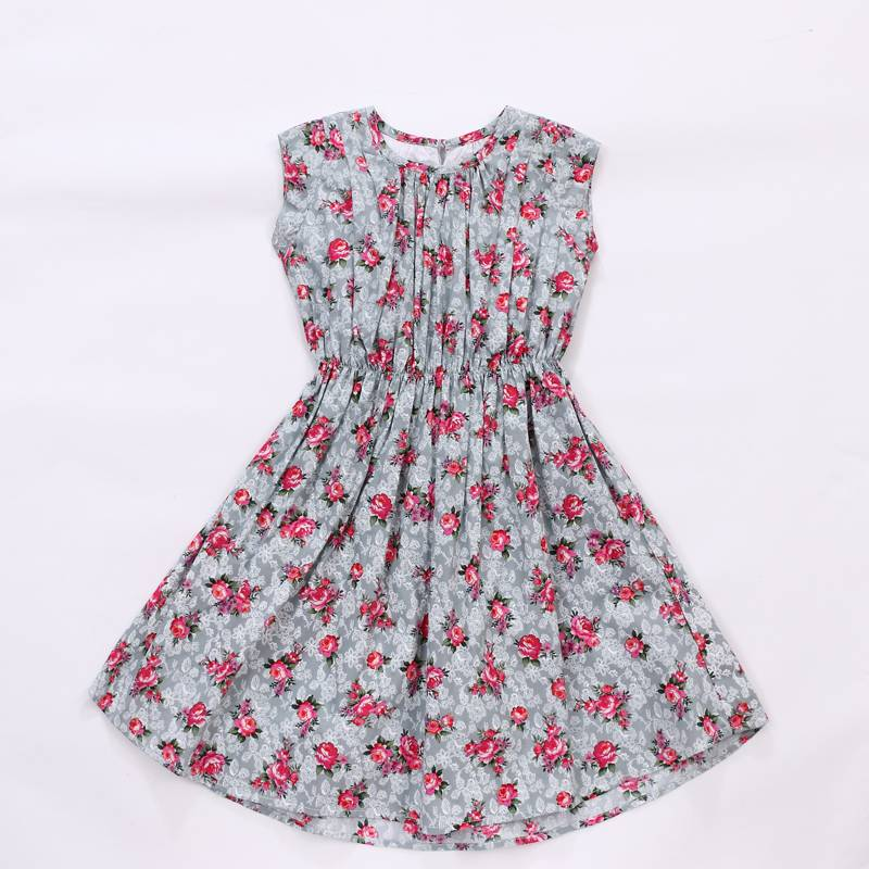 New Design Infant O neck sleeveless children flower girl dresses