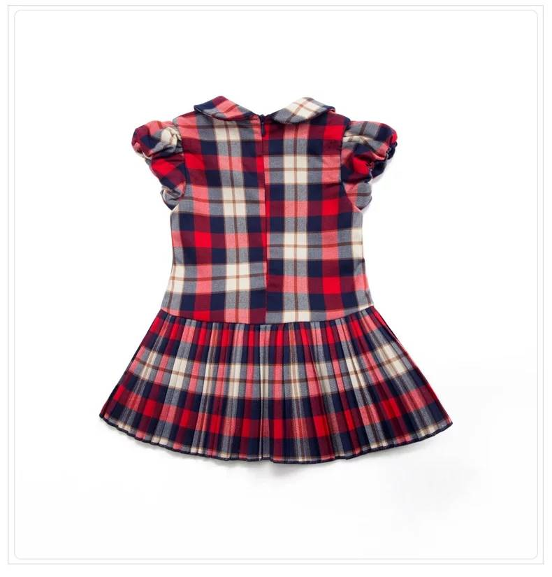 2017 Newest Baby Dresses Eco-Friendly Kids Girls Plaid Fit and Flare