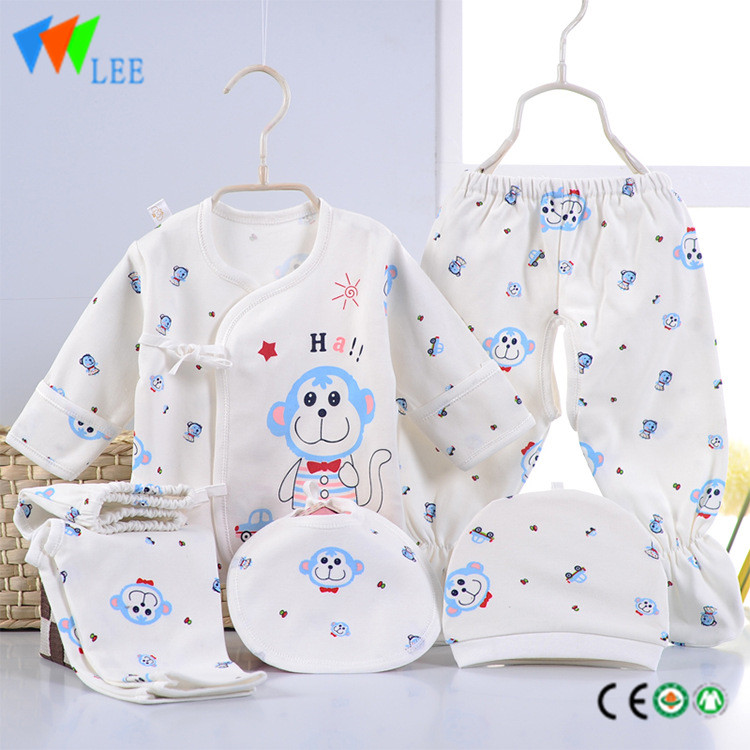 100% cotton newborn baby clothing gift sets printing comfortable