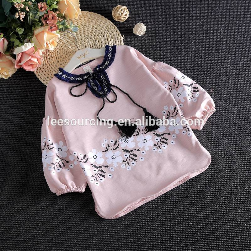 Wholesale children's boutique clothing baby girl lace pants and ruffle tops set