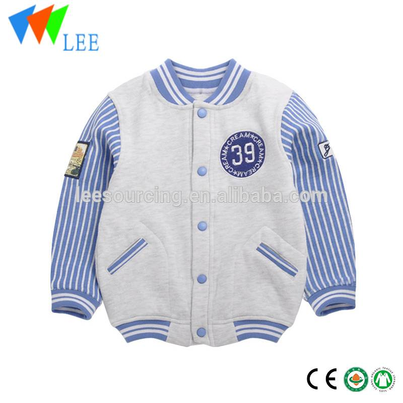 Children's baseball wear new spring clothes to keep warm coat baby stripe baseball jackets