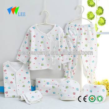 Beautiful newborn baby clothes 100% cotton newborn baby clothing gift set wholesale