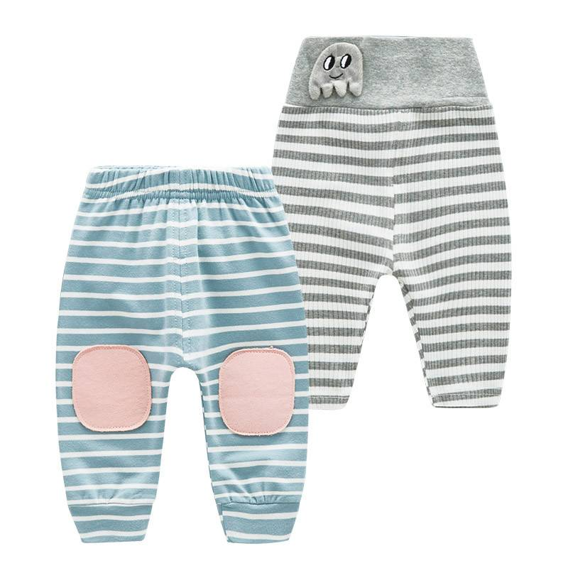Wholesale Children Boutique Leggings Baby Knee Pantyhose Cotton Striped Pants