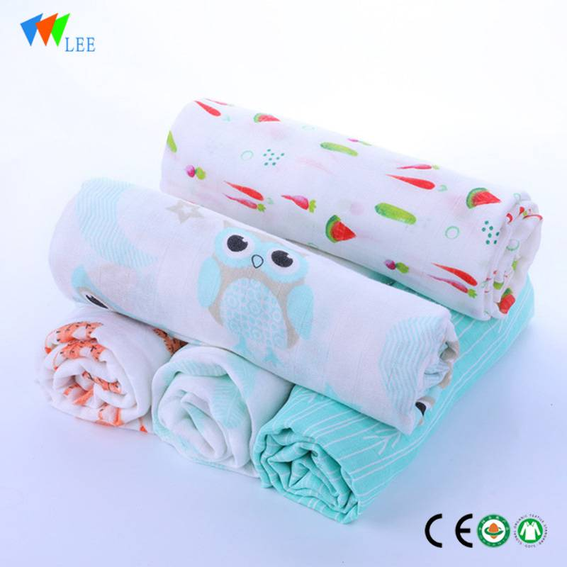 2017 muslin  new design and fashionable style wholesale high quality soft baby bamboo fiber blanket Featured Image