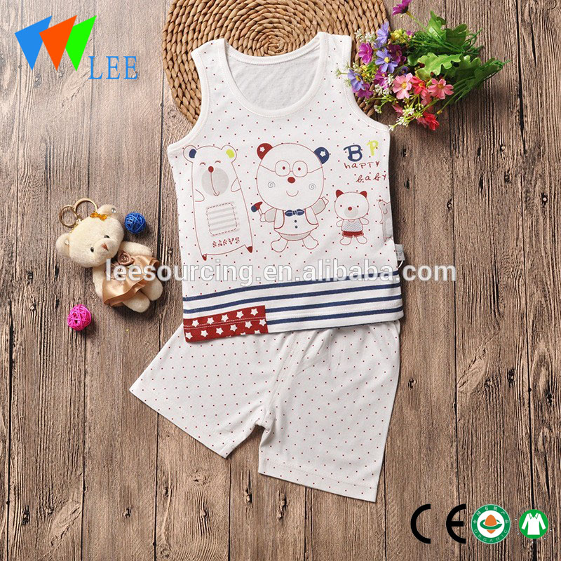 baby bamboo cotton clothing vest and shorts set baby organic bamboo set Featured Image