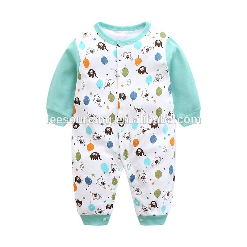 Long sleeve cute style baby bodysuit wholesale baby bamboo organic clothing