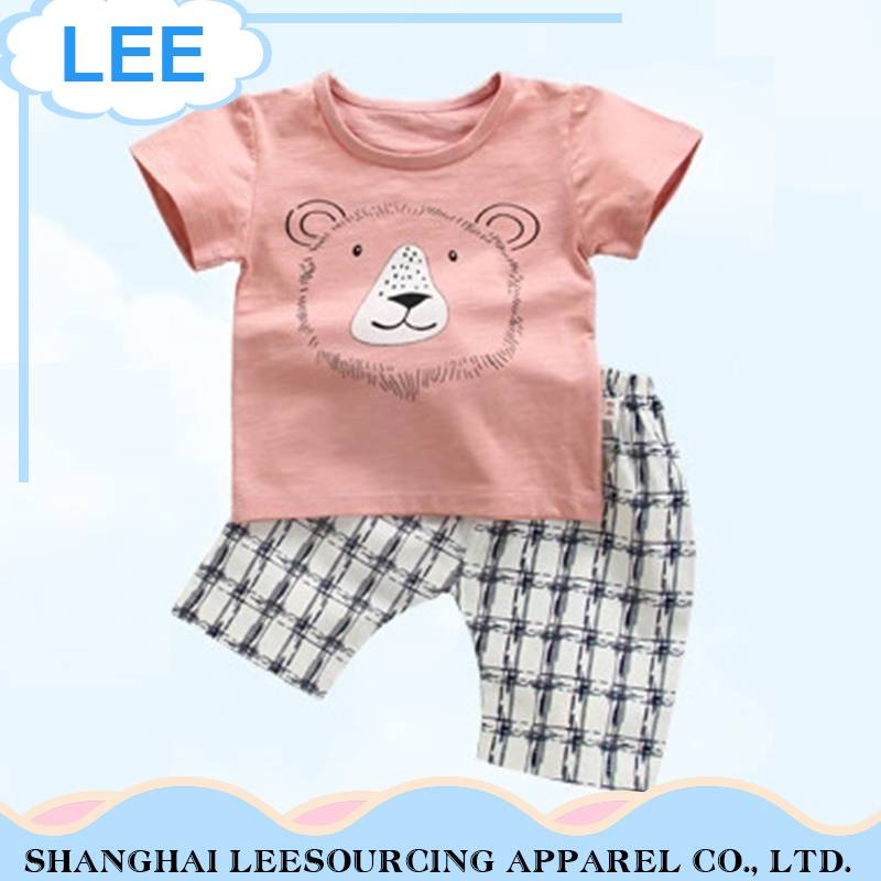Wholesale New Summer Children's Clothes for Boys Printed Clothes Set