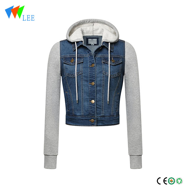 Long-Sleeve Regular & Plus Size kids denim jacket