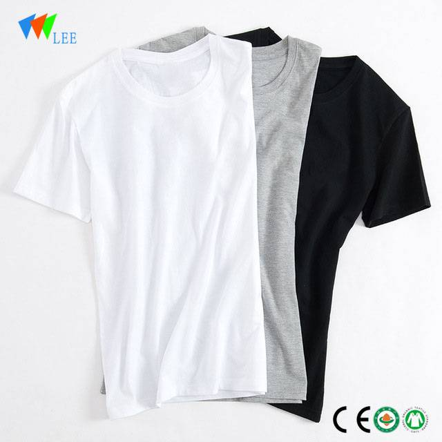 7a2172364f1f wholesale fashion cotton plain white t-shirt fo... new design baby child ...
