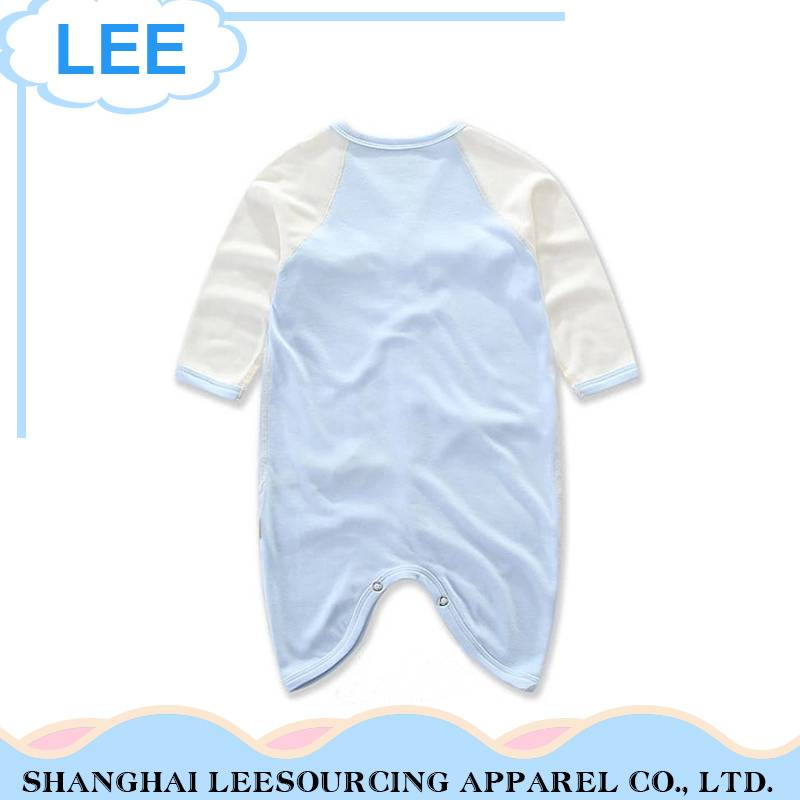 Hot sale button design summer long sleeve bamboo baby romper