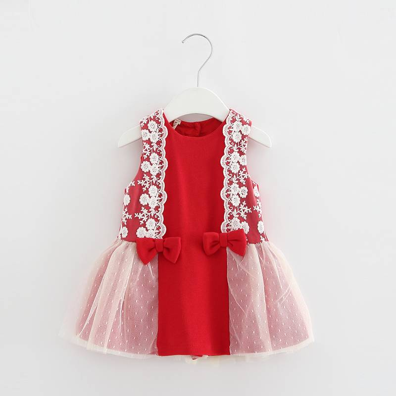 2017 Fashion kids frock designs girls lace dress baby dresses for girls of 7 year old