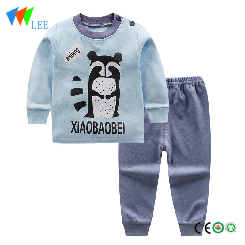 wholesale baby kids clothing sets printed lovely comfortable home pajamas