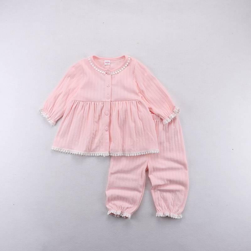 Wholesale Children Cotton Soft Pajamas Baby Girls and Boys Sleepwear kids clothes set