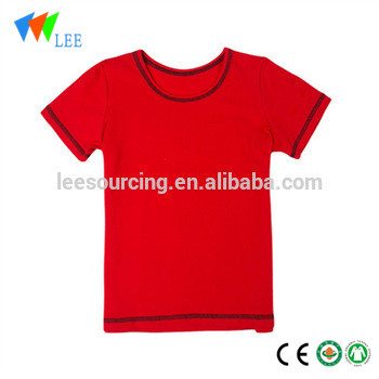 Wholesale 100% cotton blank t-shirt custom designs tops apparel for boys and girls cheap frock baby children clothes