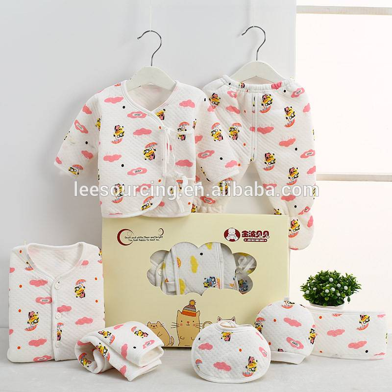 Cute style cotton newborn gift boxes for baby clothes