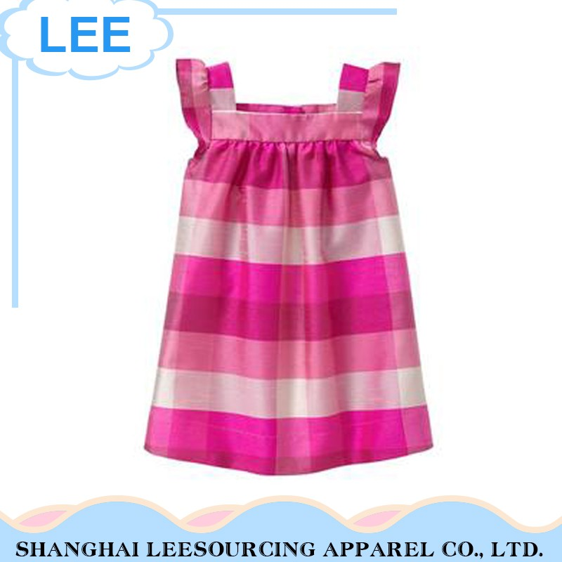 Hot Sale New Style Fashion Summer Plaid Print Baby Dress Girls Dress