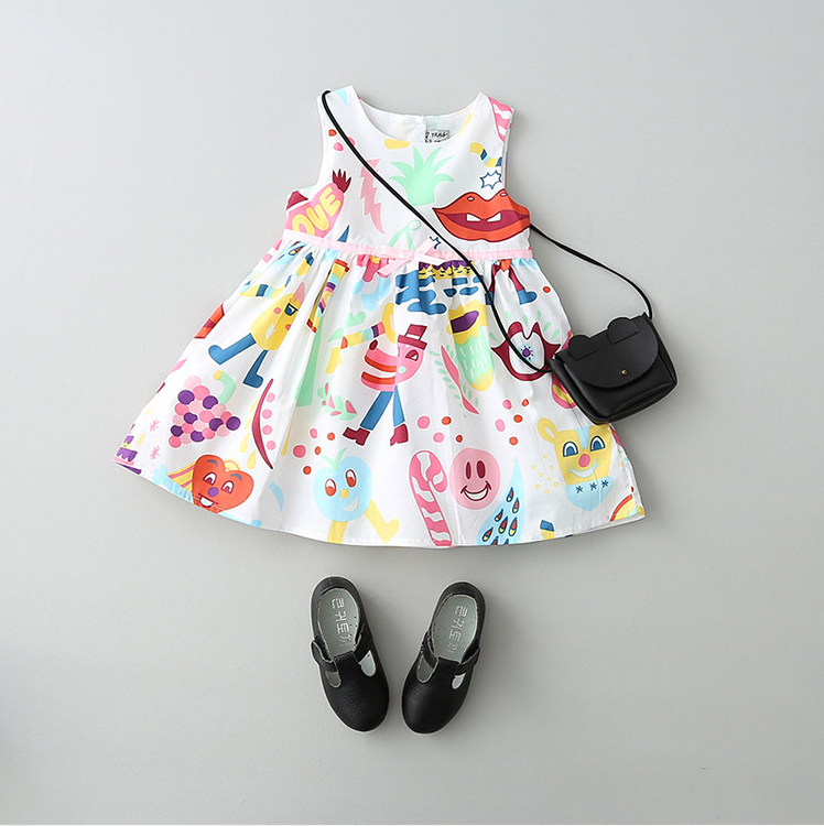 Baby Girl Summer Clothing new style flower printing children dress
