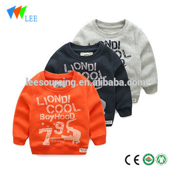 Children french terry sweatshirt cotton sweater Circle top long sleeve design t shirt wholesale