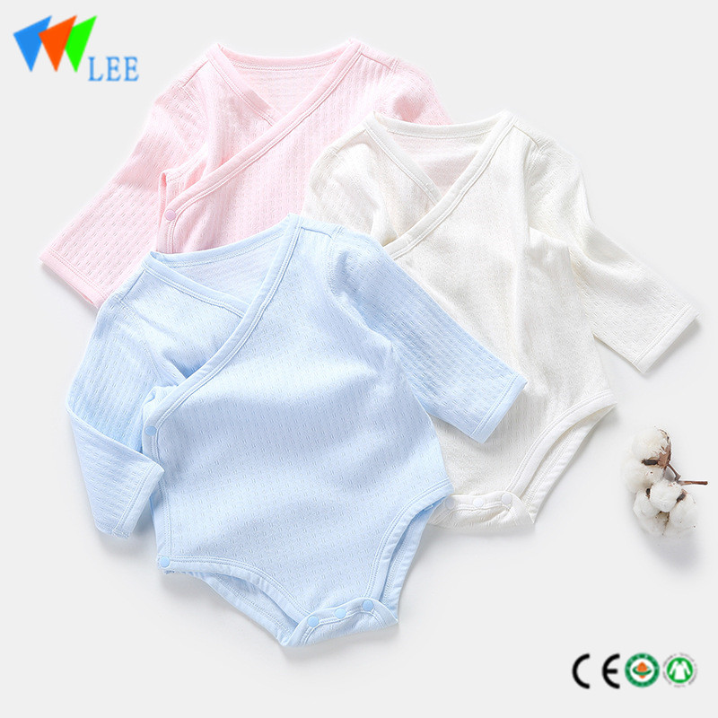 Bamboo cotton elastic comfortable long sleeve blank baby rompers