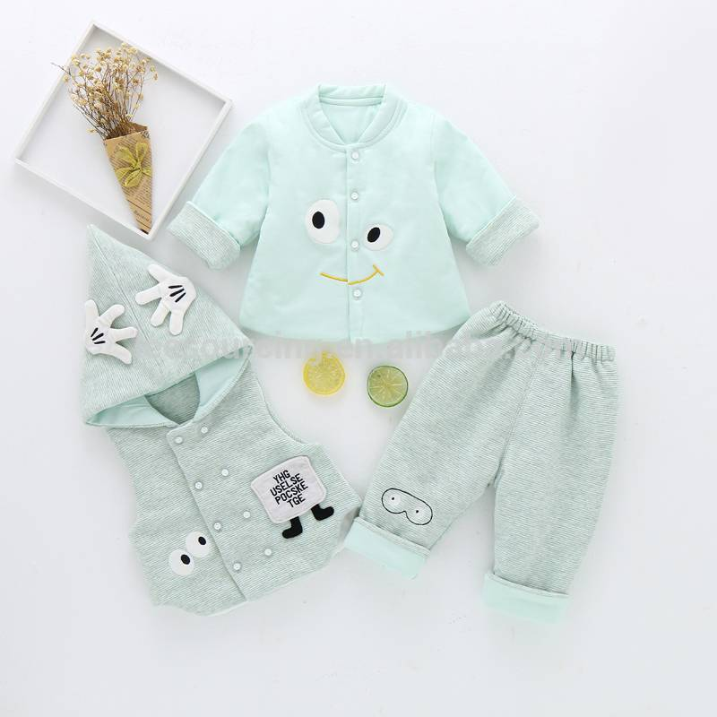 Neonatal clothing, pure cotton vest, three-piece jacket.