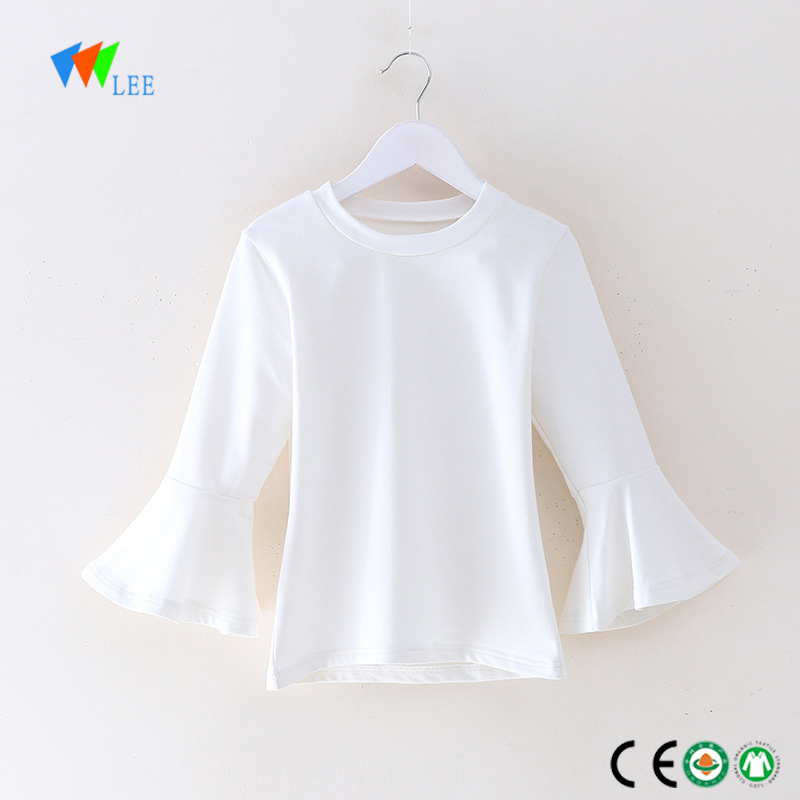 China Manufacture Fashion Design Long Sleeve Solid Organic Cotton T Shirt Casual Kids T Shirt Baby Wholesale Manufacturers And Suppliers China Leesourcing