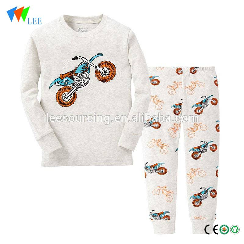 Baby boy home wear nightclothes 100% cotton children pyjamas clothes set wholesale
