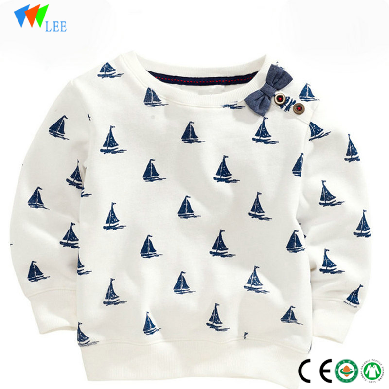 china manufacture wholesale fashion design children long sleeve cotton printing t-shirt