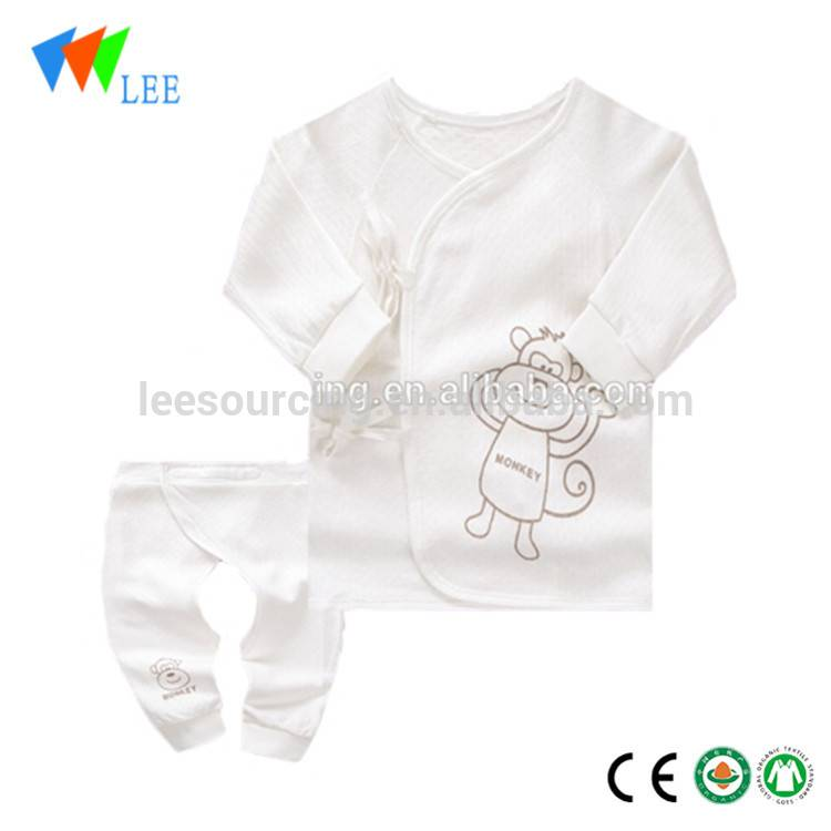 long sleeve baby bamboo romper 2pcs bamboo baby set Featured Image