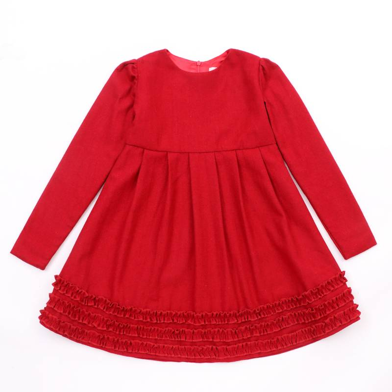 New model fashion design baby casual dress for girls of 7 years old