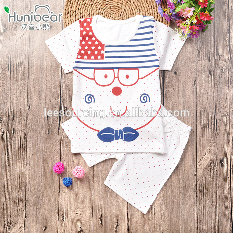 wholesale newbron baby clothing bamboo t shirt and shorts cartoon baby bamboo clothing
