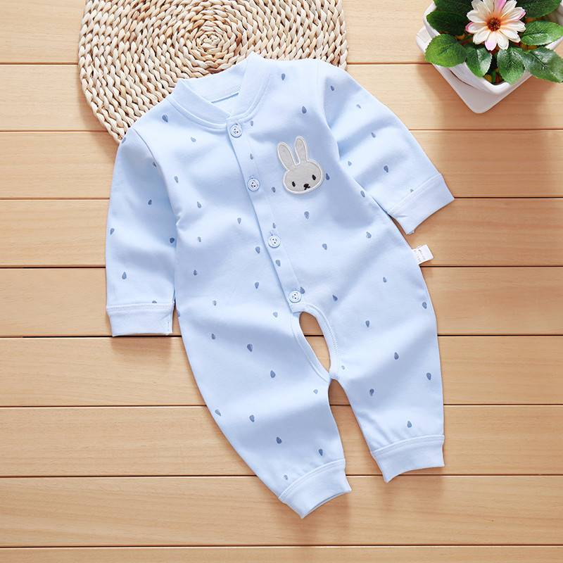 girl boy bamboo baby pure colour summer long sleeve prints romper