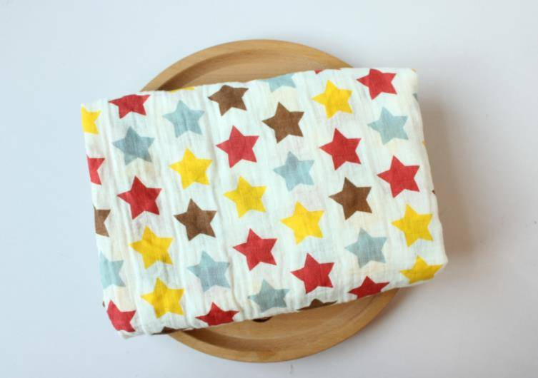 High quality wholesale super soft baby printed bamboo muslin swaddle blanket