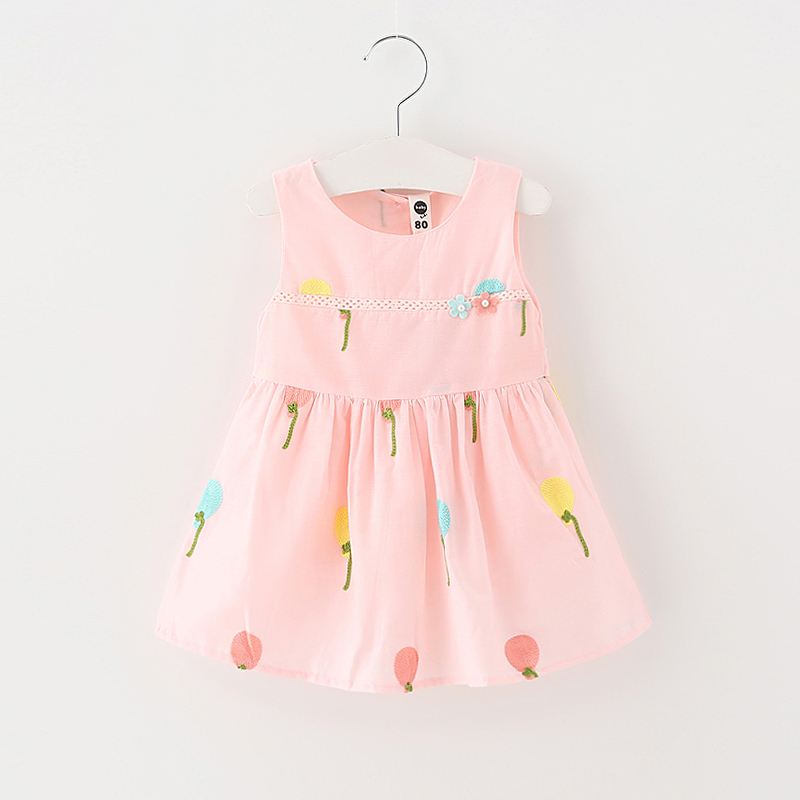 2018hot sale Children's clothing summer sleeveless skirt baby girl's dress