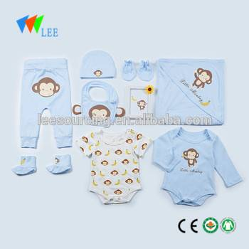 wholesale baby 100% cotton soft gift set newborn baby clothing