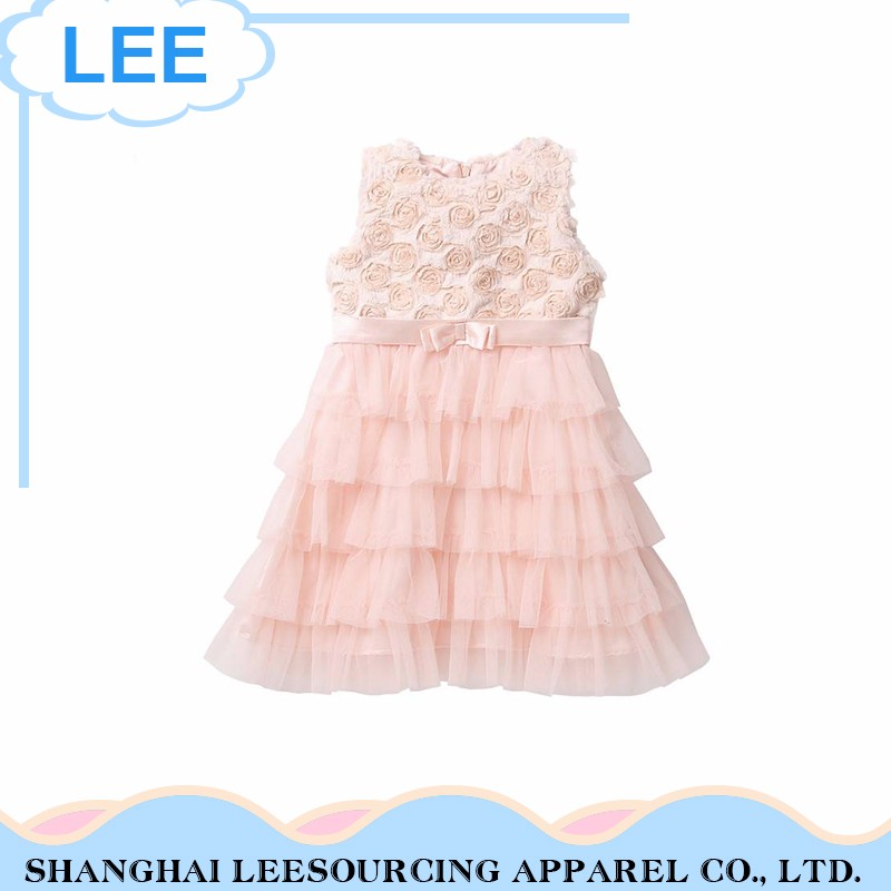 New Arrival Breathable Pink Sleeveless Baby Girl Tutu Romper Dress