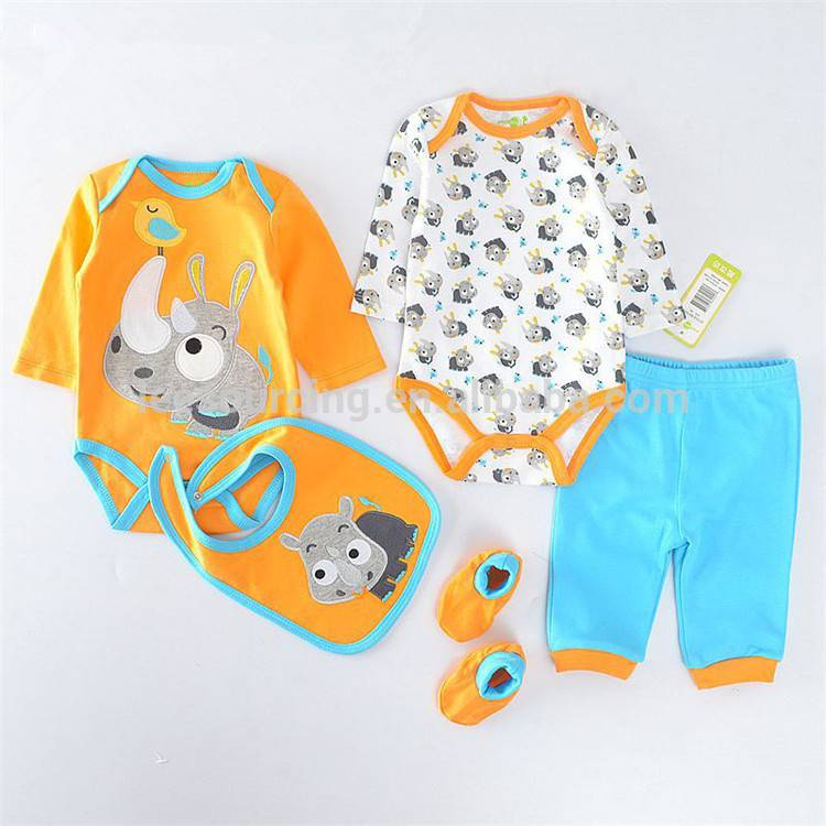 Wholesale Newborn Clothes Cheap Baby Girl Romper Boutique Set Clothing